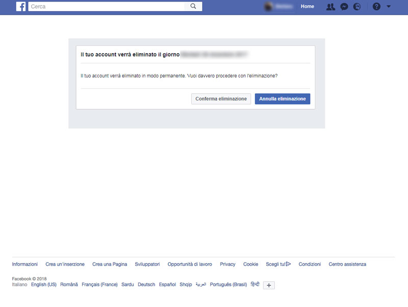 Come Cancellarsi da Facebook Velocemente