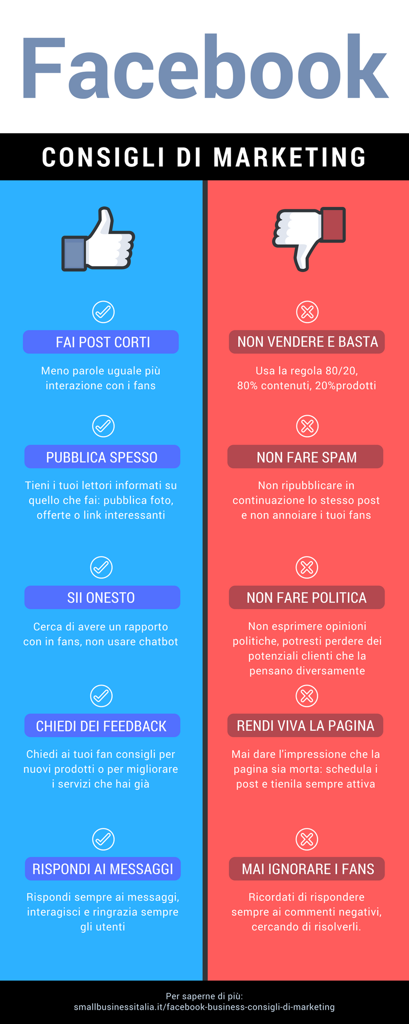 facebook consigli di marketing