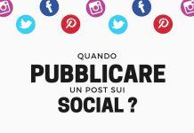 infografica quando pubblicare un post