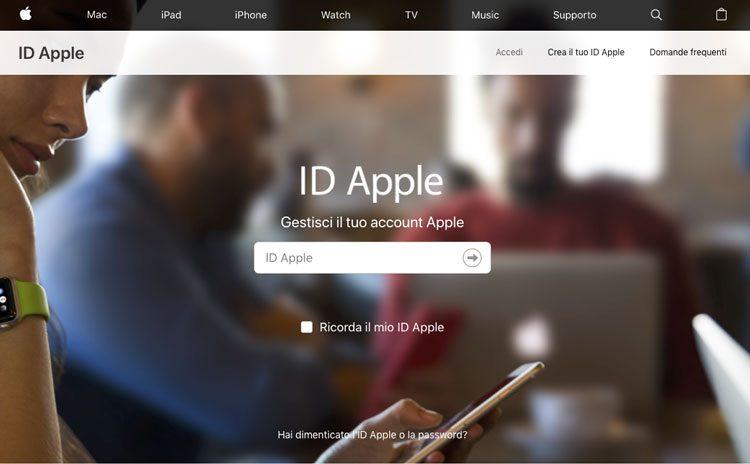 autenticazione a due fattori id apple