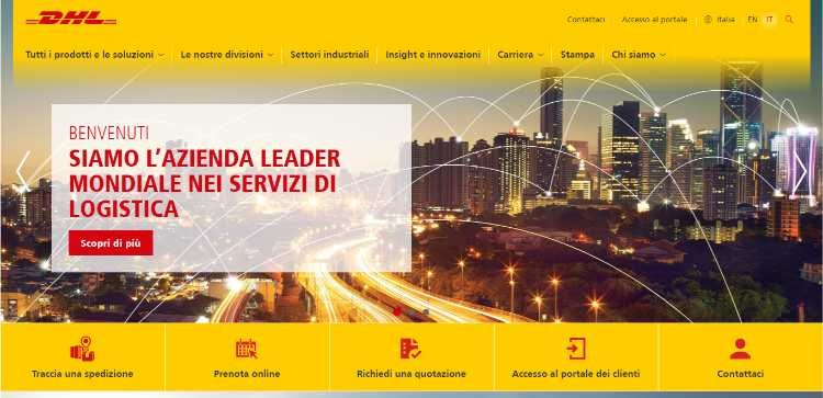 dhl spedire pacco