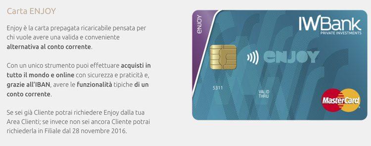 iwbank carta prepagata ricaricabile