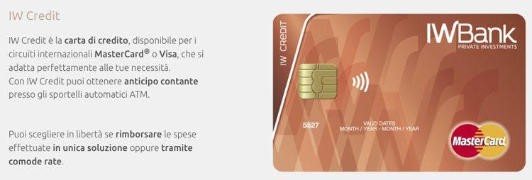 iwbank carta di credito