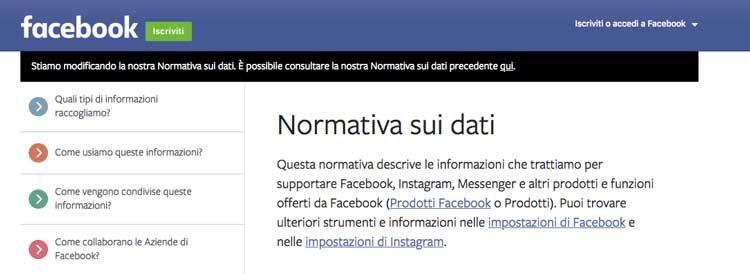 come scaricare i propri dati da facebook