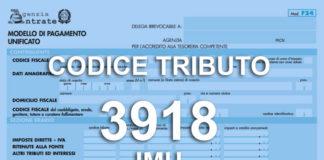 codice tributo 3918