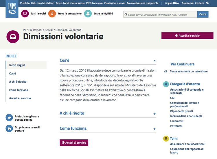 Guida Alle Dimissioni Online Small Business Italia