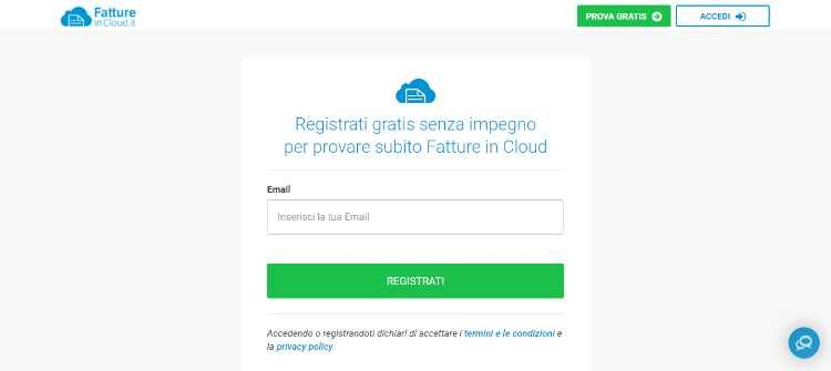fatture in cloud login