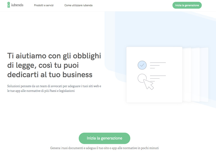 c5d2d5428b0e Guida a Iubenda per il GDPR - Small Business Italia
