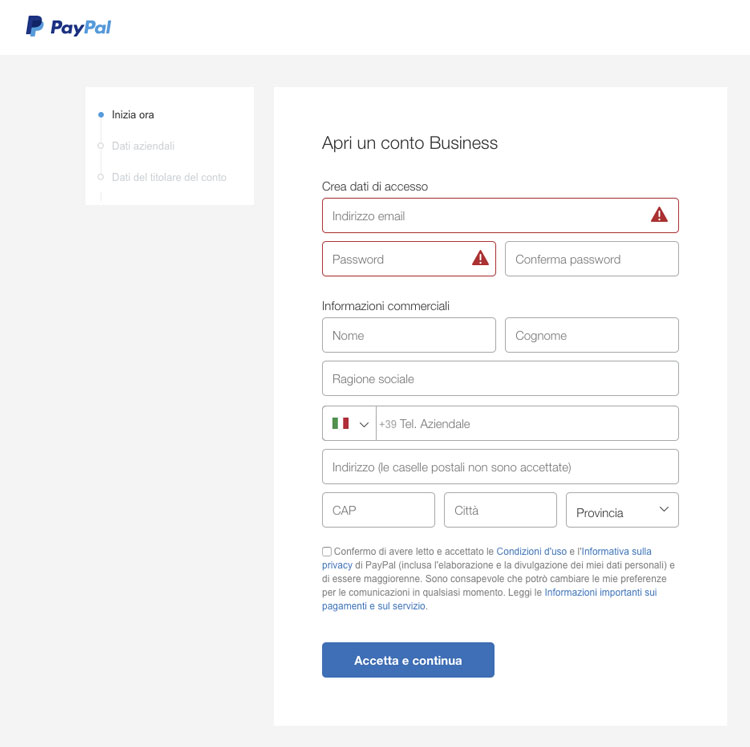 paypal business
