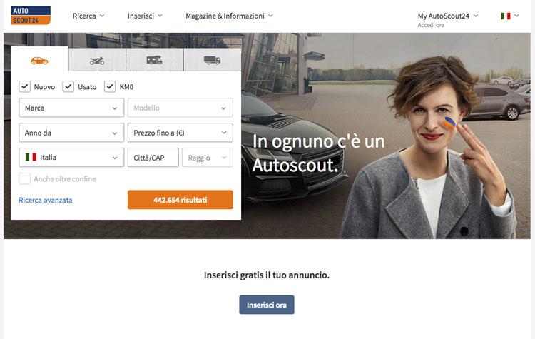 vendere auto usata autoscout24